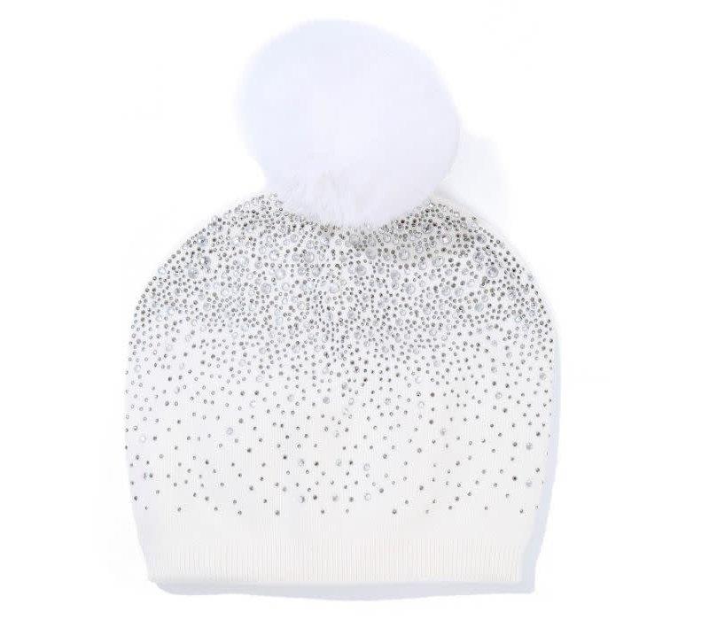 Peach SD04 Diamonte Cream Hat