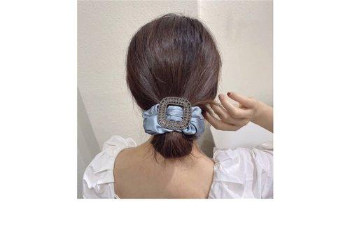 Peach Accessories Peach HA150 Grey Ruched Hair Bobble