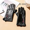 Footprints ZH002 Leather multi button Gloves