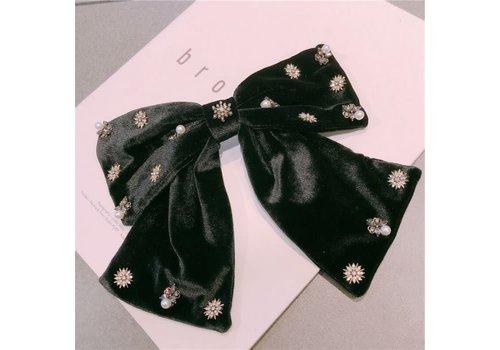 Peach Accessories Peach HA155 Black velvet hair bow