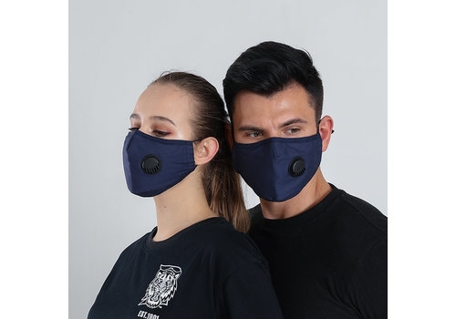 GESSY GESSY Navy cotton mask with valve