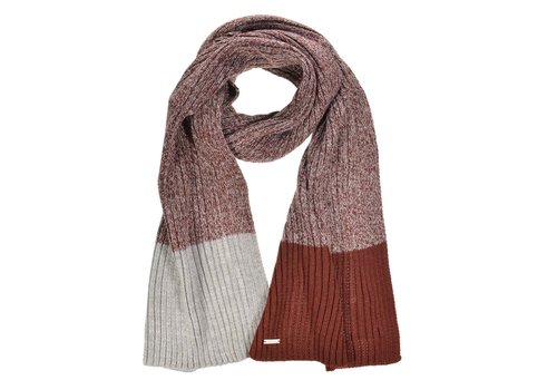 Seeberger Seeberger 070463-2314 Wine/Grey Scarf