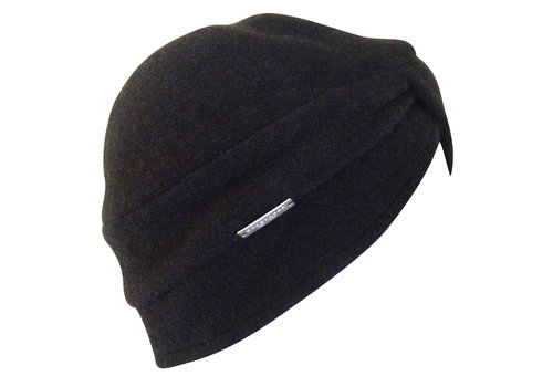 Seeberger Seeberger 018423-10 Black wool Turban