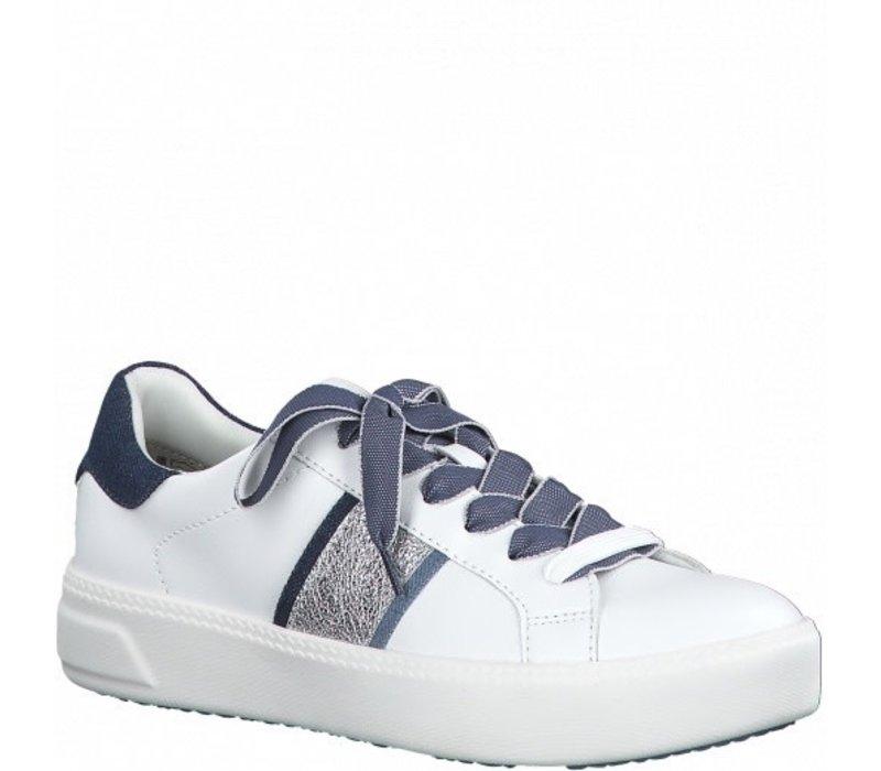Tamaris 23750 White/Jeans Sneakers
