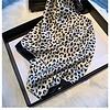 Peach Accessories Peach F770 Leopard print square scarf