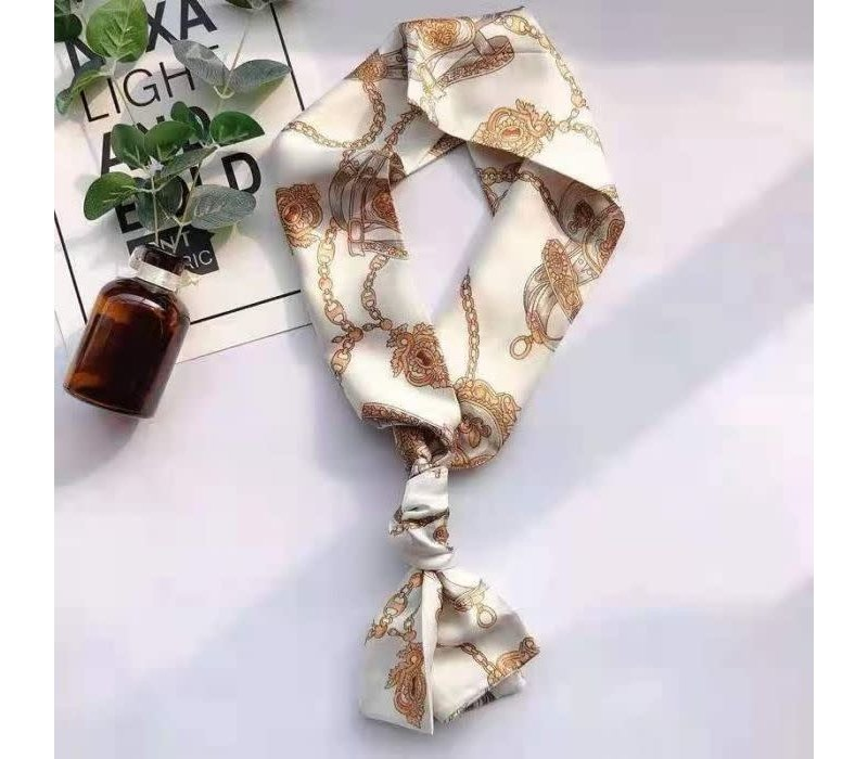Peach F691 Winter White Neck Scarf