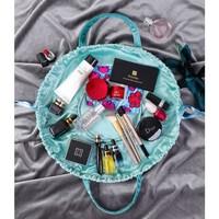 Aqua Lazy drawstring Make up Bag