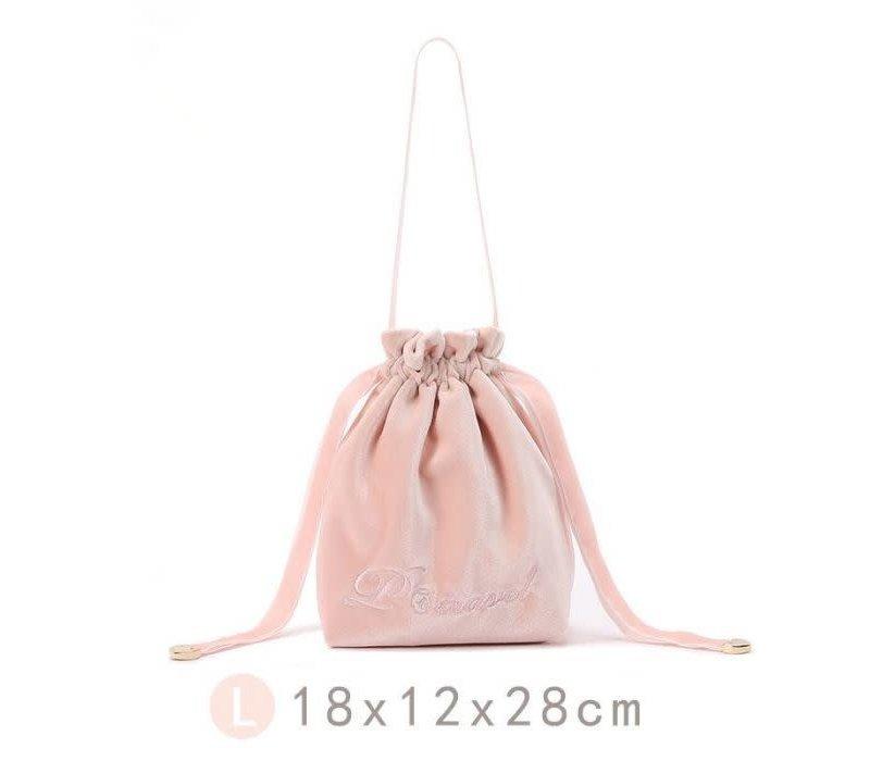 Large bucket Make up Bag in Pink