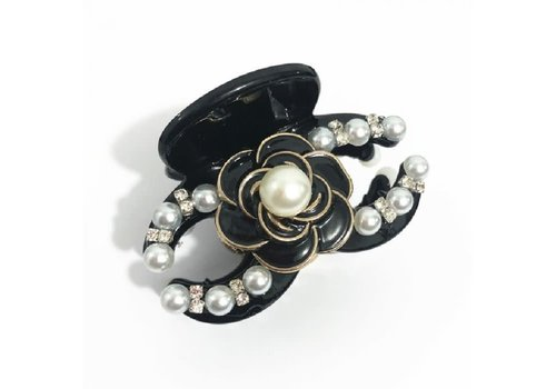 Peach Accessories HA165 Black and pearl CC Hair Claw