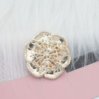 Cream Pearl Rose Brooch