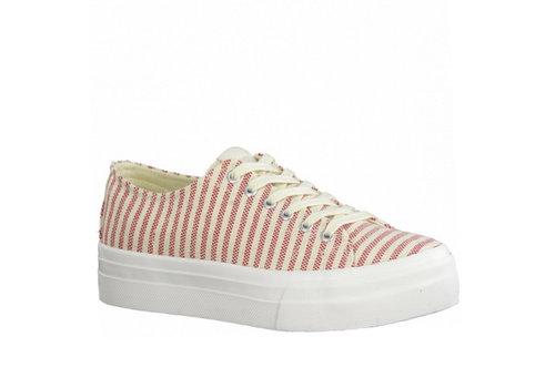 Tamaris S/S Tamaris 23786 Red Stripe Canvas Sneakers