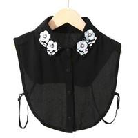 7705 Black decorative flower Collar