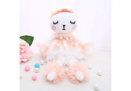 Peach Accessories B41 Twin sister rag doll in Peach