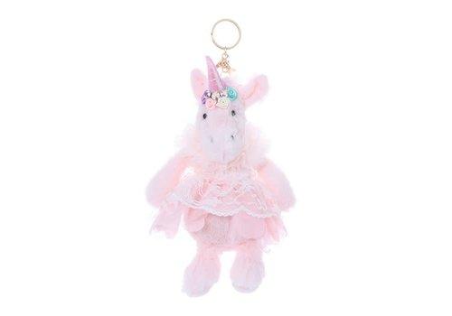 Peach Accessories B51 Cream Unicorn with pink skirt