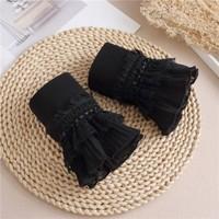 7724 pretty Black cotton Cuff's