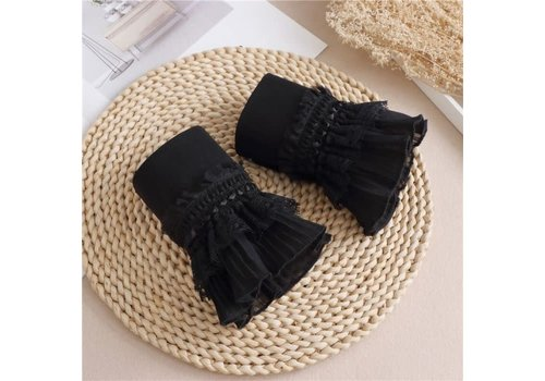 Peach Accessories 7724 pretty Black cotton Cuff's