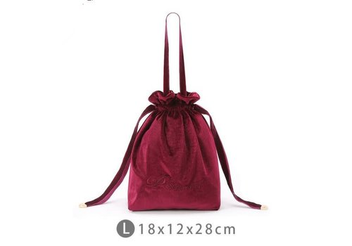 Peach Accessories Large bucket make up Bag in Wine