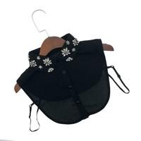 7706 Black decorative lace jewel Collar