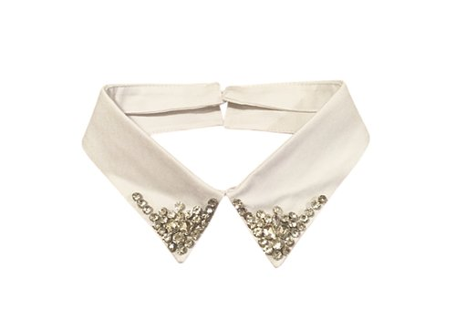 Peach Accessories 7731 White jewel Neck Collar