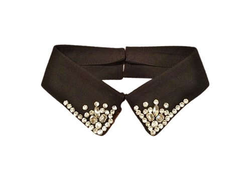 Peach Accessories 7731 Black jewel Neck Collar