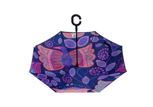 Peach Accessories F906-1 Purple Paisley Umbrella