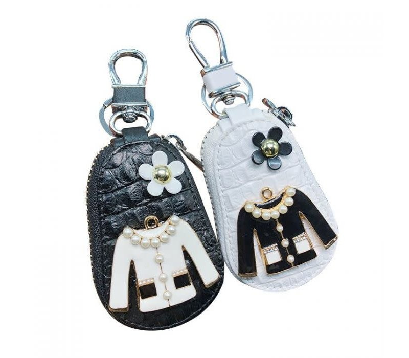 3021 Leather Key chain zipper Bag