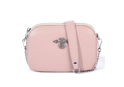 Peach Accessories 8801 Crystal Bee Blush Leather Pouch