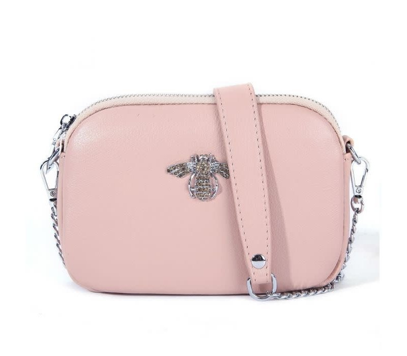 8801 Crystal Bee Blush Leather Pouch