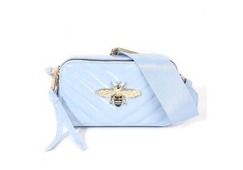 Peach Accessories 9021  Bee Bag in Blue Patent