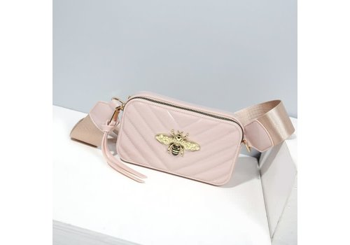 Peach Accessories 9021  Bee Bag in Nude Patent