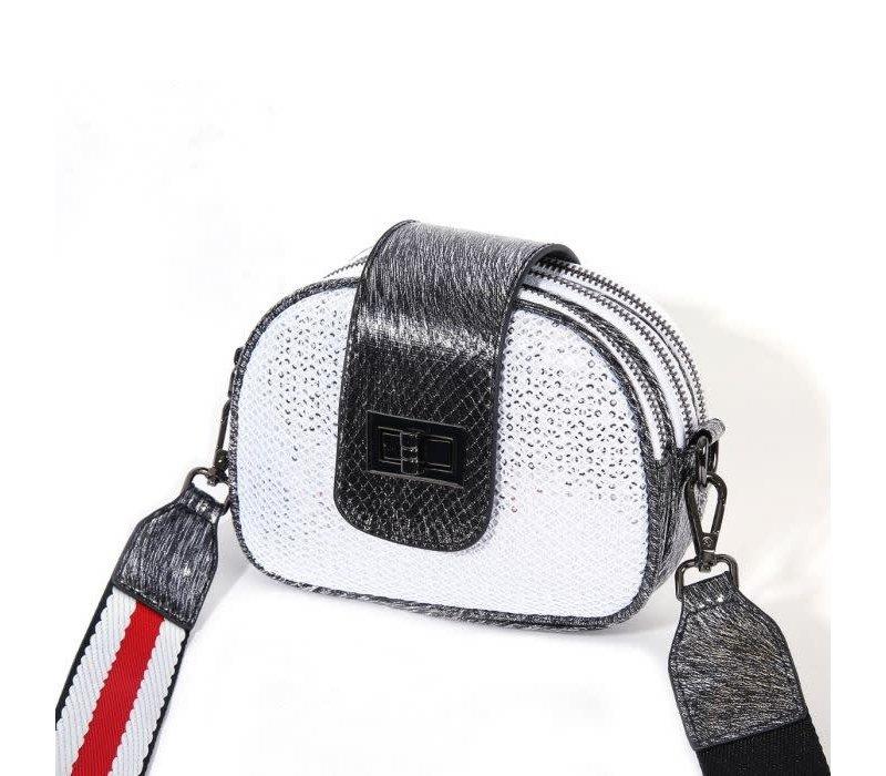 PO20 Crossbody Bag in Silver