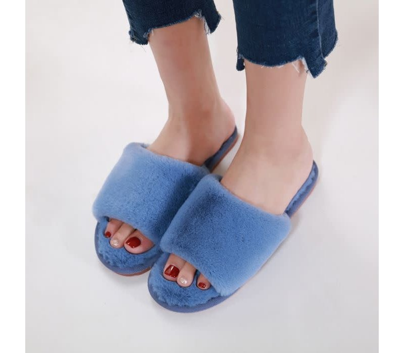 1990 Blue furry Slippers