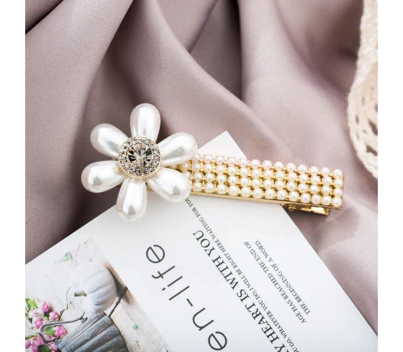 HA202 Cream Pearl Hair Clip