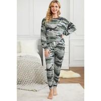 PJA024 Green Camouflage  Loungewear