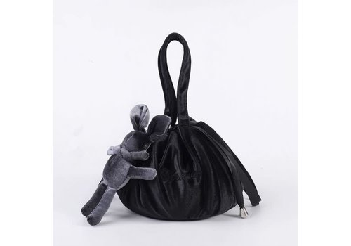 Peach Accessories Black Lazy Drawstring Make-up Bag