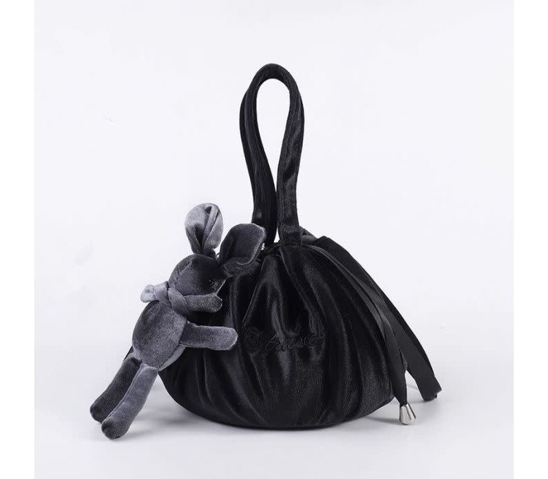 Black Lazy Drawstring Make-up Bag