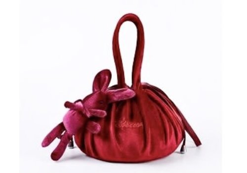 Peach Accessories Wine Lazy Drawstring Make-up Bag