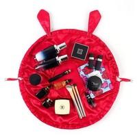Wine Lazy Drawstring Make-up Bag