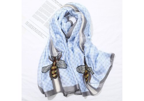 Peach Accessories TT34 Bee style Scarf in Blue