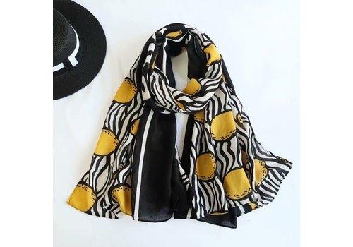 Peach Accessories TT150 Lemon scarf in Cotton
