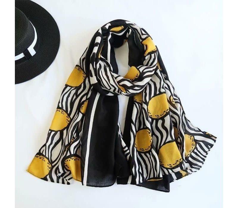 TT150 Lemon scarf in Cotton