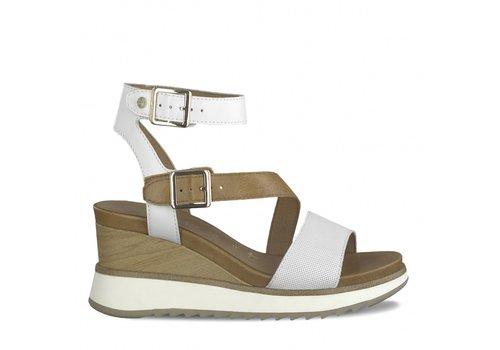 Tamaris S/S Tamaris 28021 White/Tan Sandal