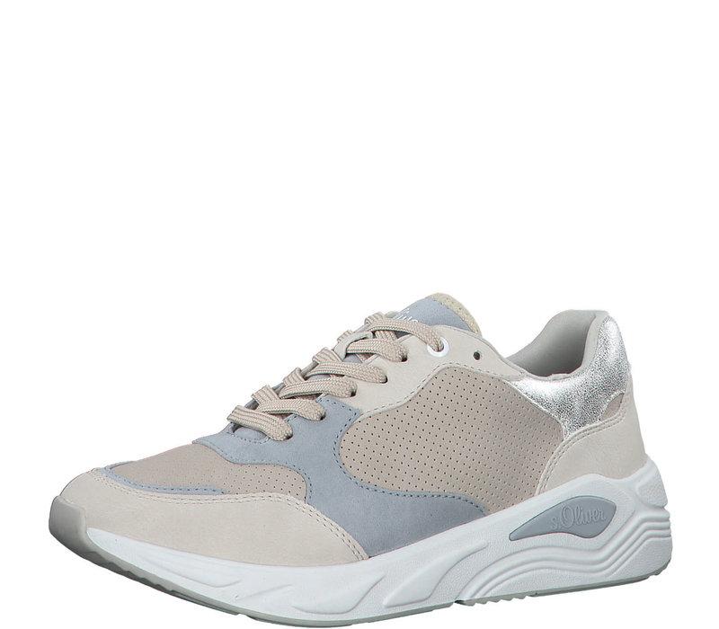 S.Oliver 23639 Beige/Blue Sneaker