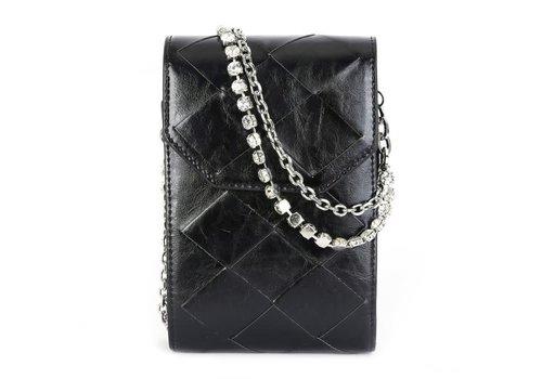 Peach Accessories 88967-1 Black Leather CrossBody