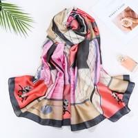 TT208 Horse pattern satin scarf