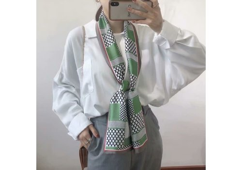 Peach Accessories F683 Spring Green neck scarf