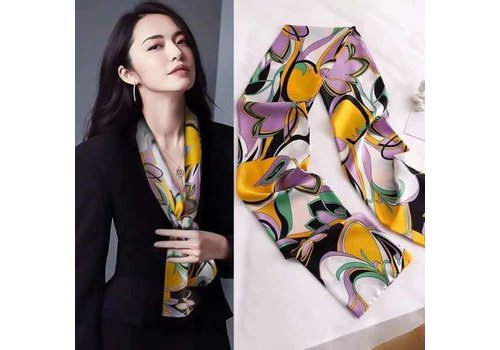 Peach Accessories F682 Lilac Floral neck scarf