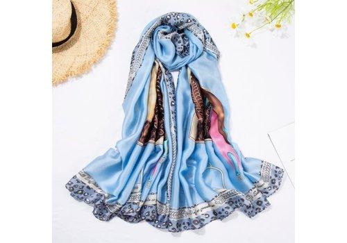 Peach Accessories TT109 Horses saddle silky scarf