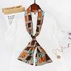 Peach Accessories F680 Silky neck scarf Tan/Orange