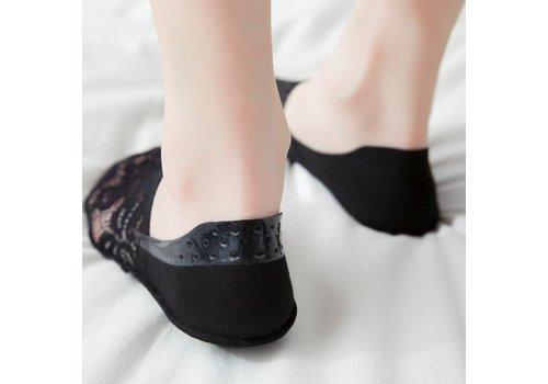 Peach Accessories SDK024 Black Lace Shoe Liner's